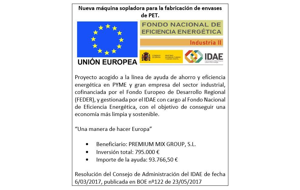 IDAE concede una subvención a Vichy Catalan Corporation