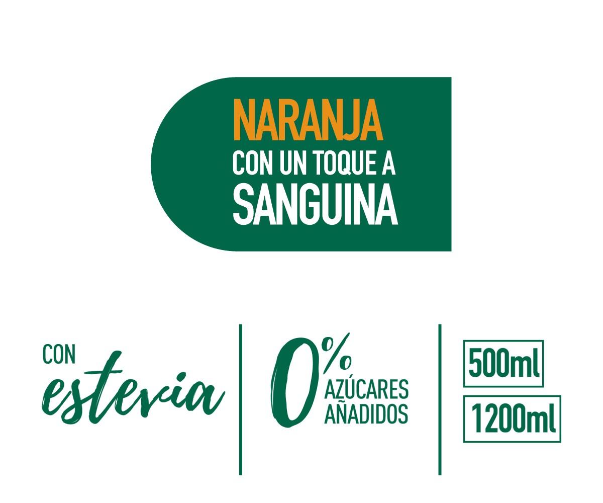 Mondariz BeFruit Naranja label